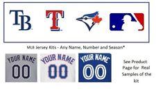 MLB Tampa Bay Rays Texas Rangers Toronto Blue Jays UNSEWN Jersey Kit