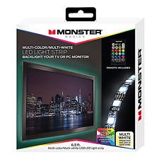 Monster Smart Multi-Color/Multi-white USB LED Light Strip - 6.5ft - NEW
