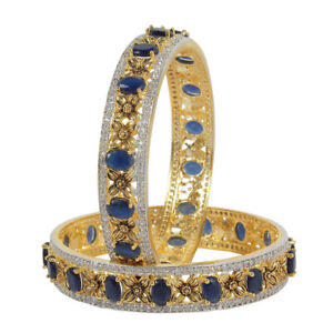 Indian American Diamond Bangles Bracelet Gold Plated Bollywood Jewelry For Women