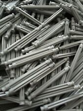 Micro K'Nex 40mm Grey Rods x 25 DW662 Disinfected & Cleaned