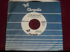 "GREG LAKE ""Let Me Love You Once"" Chrysalis CHS 2571 Long/Short Promo!"