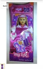 "Slumber party My life as fits 18""doll American Girl sleeping bag,toothbrush 10pc"