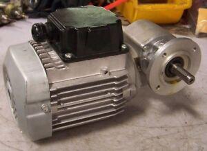 "NEW LEROY SOMER 30:1 RATIO RIGHT ANGLE GEARMOTOR 230 VAC .12 KW 1/2"" DIA 8R1693"