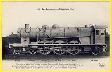 """cpa LOCOMOTIVE à VAPEUR 2e TYPE """" PACIFIC """" pour TRAINS EXPRESS LOURDS de 1910"""