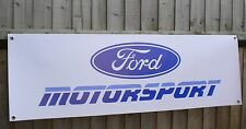 Ford Motorsport Banner 1990s retro workshop garage sign Escort race rally car