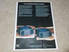 Krell MDA-300 Mono Amplifier Ad, 1994, 1 page, Article, Info