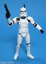 STAR WARS LOOSE ROTS VERY RARE WHITE CLONE TROOPER SUPER ARTICULATED MINT. C-10+