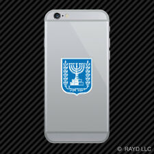 Israeli Coat of Arms Cell Phone Sticker Mobile Israel flag ISR IL