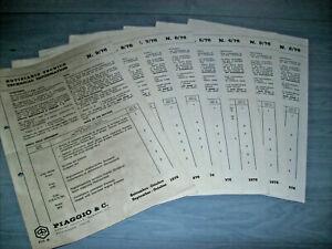PIAGGIO VESPA APE CIAO BOXER NOTIZIARI TECNICI - TECHNICAL INFORMATION - 1976