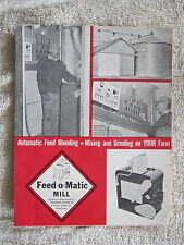 VINTAGE 1960's FEED-O-MATIC AUTOMATIC FEED MIXING, GRINDING MILL BROCHURE