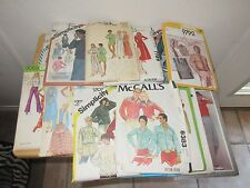 Lot of 16 Vintage Sewing Patterns Women Simplicity Vogue McCalls