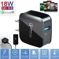 Qc3.0 Usb Hub 18W Fast Quick Wall Charger Power Adapter For iPhone 11 12 Pro Max