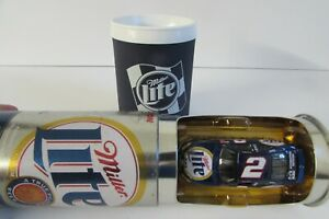 XRARE 1:64 Rusty Wallace #2 MILLER LITE 2000 Die Cast NASCAR in PROMO BEER CAN