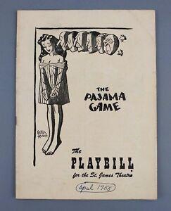 Playbill Pajama Game St James Theatre April 1955 Raitt Paige Foy Souvenir Vtg