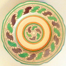 To Clear £75 was £95 Rare Green Chain Pattern Charlotte Rhead Charger 27 cm.