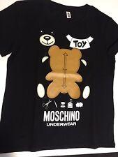 Moschino Underwear CUT OUT BEAR T-SHIRT IN BLACK UK M/EU M/US S