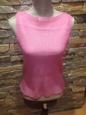 EUC Rickie Freeman Terri John - Pink Mohair Shell Sweater - Medium - Sleeveless