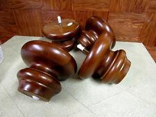 """Set of 4 med. cherry Bun Feet  Legs 4 """" h X  5 1/2"""" wide 3 1/4"""" bottom"""