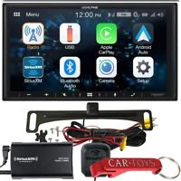 "Alpine iLX-W650 7"" Car Stereo Receiver Bundle w/ Backup Camera & SiriusXM Tuner"