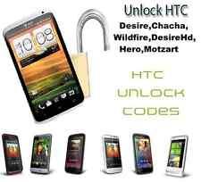 Instant HTC código de desbloqueo para HTC Desire, Chacha, Wildfire, Desire HD, Hero, motzart