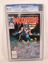 Wolverine 1 Marvel 1988 CGC 9.2 Chris Claremont John Buscema 1st Patch