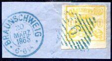 BRAUNSCHWEIG 1864 14A BOGENECKE auf BRIESFTÜCK SELTENHEIT(S1161