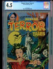Beware Terror Tales 7 CGC 4.5 Classic skulls cover Fawcett 1953 RARE!! PCH