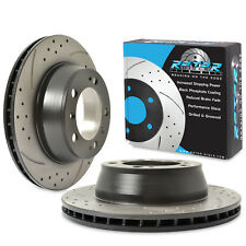 REAR DRILLED GROOVED 298mm BRAKE DISCS FOR PORSCHE BOXSTER S 986 987 3.2 3.4