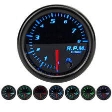 "Universal 12V 2"" 52mm 7 Colors Car Auto Tachometer Gauge Meter LED+Sensor"