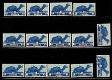 1934 Eritrea Sc 158 Camel MNH stamps and some used