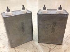 2 Oil Filled Capacitors 12.5MF 800V 24AMP Vintage Audio Tube