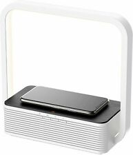 Wireless Charging Station For iPhone Android Phone W/ Bluetooth Speaker and Lamp