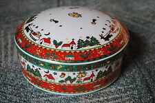 Weihnachtsgeschirr, GEBÄCKDOSE mit flachem Deckel