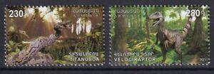Armenia 2021 Dinosaurs 2 MNH stamps