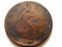 1865 Britain One (1) Penny Coin