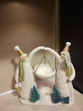 Yankee Candle Snowman Couple Hanging Tart Burner - EUC - HTF