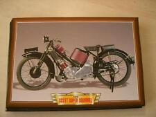 SCOTT SUPER SQUIRREL VINTAGE CLASSIC MOTORCYCLE BIKE 1920'S PICTURE PRINT 1928