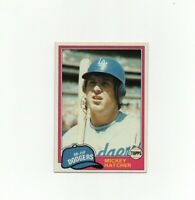 1981 Topps Mickey Hatcher Baseball Card #289 - Los Angeles Dodgers