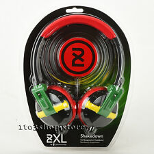 Skullcandy 2XL Shakedown Stereo Headphones with Full Suspension X5SHFZ-810 Rasta