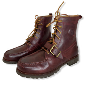 Polo Ralph Lauren Ranger Boots Red Brown Vintage 14557 F19 Size US 10.5