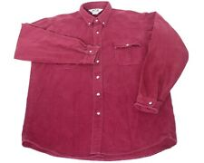 Vtg Sportsmans Guide Thick Heavy Maroon Flannel Chamois Outdoor Shirt Sz Xl Usa