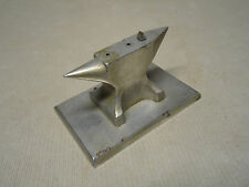 AWESOME Vintage Jeweler Watchmaker Anvil Double End Nickel Plated w/ Hardy NICE