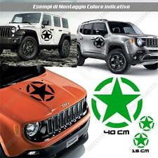 KIT 3 STICKERS STAR ARMY BODYWORK GRAPHIC JEEP WRANGLER OFF ROAD GREEN