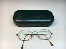 Bulova Bob Mackie 777 Copper Eye Glasses With Original Case Italy