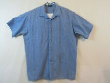 John Blair men's dress shirts Size XL. Vintage Blue shirt and Beige shirt.