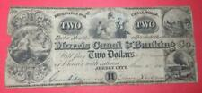 """1841 $2 Us Large Size Currency! """"Jersey City"""" New Jersey""""! Obsolete Currency!"""