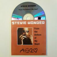 STEVIE WONDER : FROM THE BOTTOM OF MY HEART ♦ French CD Single Promo ♦