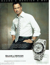 PUBLICITE ADVERTISING 125  2007   BAUME & MERCIER montre RIVIERA  GARY SINISE