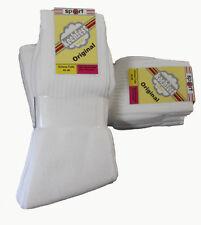 20 Paar Damen Sport-Socken weiß 90%BW ohne Ringel 39/42