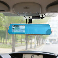 HD1080p 4.3 inch Dual Lens Car DVR Camera Rearview Mirror Auto Recorder Video